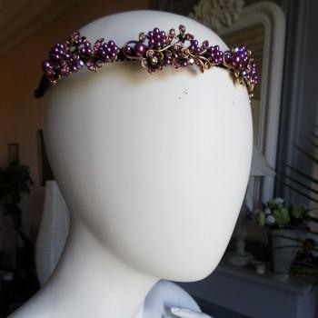 Headbead With Violetes Flowers VENDU!!!