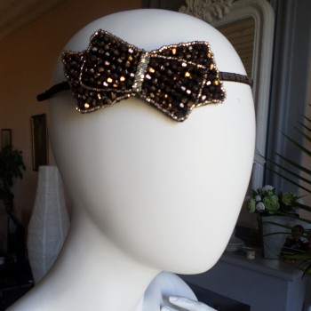 Headbead With Bow Brown VENDU!!!