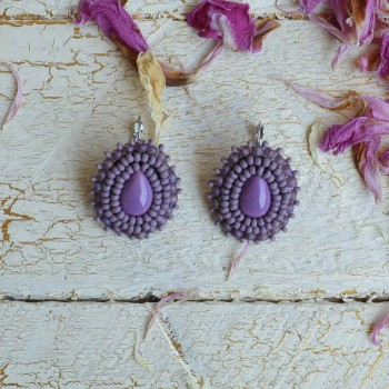 Violetes Earring  VENDU!!!
