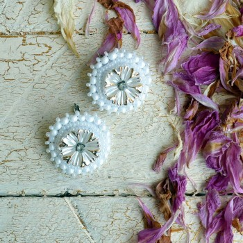 Earring With Golden Flowers VENDU!!!