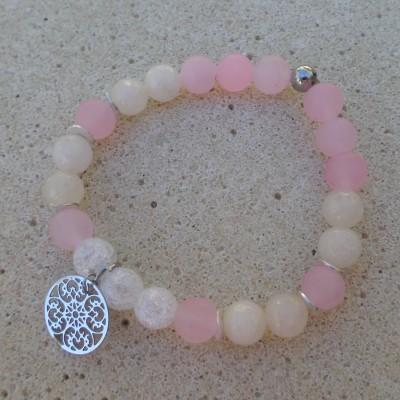 Bracelet Jadeit Crystal Pink