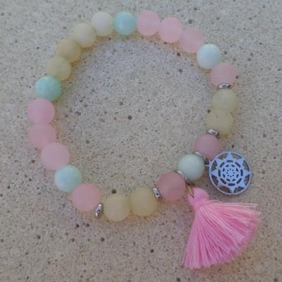 Bracelet Jadeit Colored