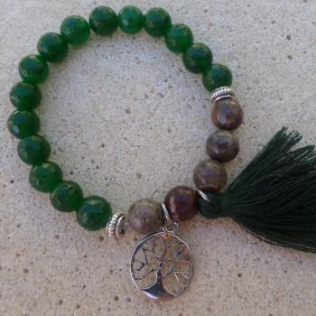 Bracelet Jadeit Jaspis - Green