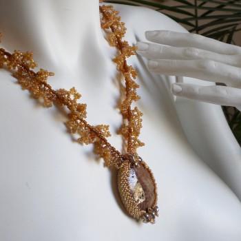 Braun Corals Necklace VENDU!!!