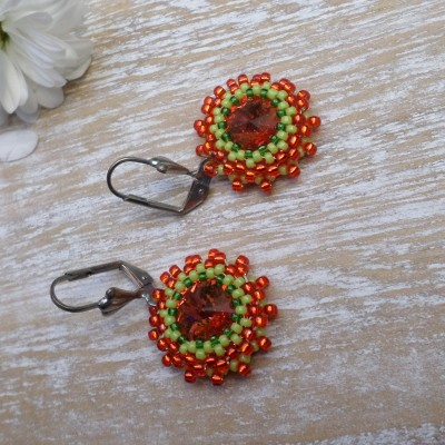 Earring Orange-green VENDU!!!