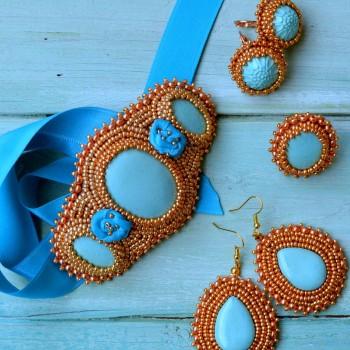 Blue Set; Boucles d'Oreilles VENDU!!!