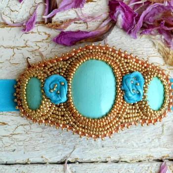 Bracelet On Ribbow Blue