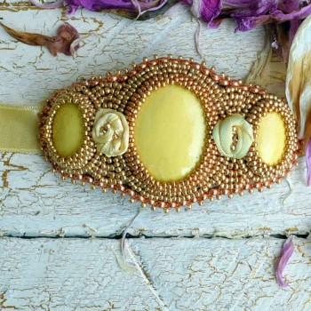 Bracelet On Ribbon Yellow