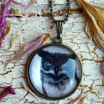 Vintage Owl Necklace VENDU!!!