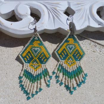 Earring African Beads VENDU!!!