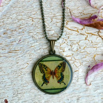 Vintage Necklace Butterfly