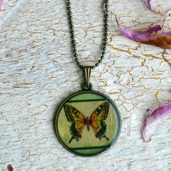 Vintage Necklace Butterfly VENDU!!!