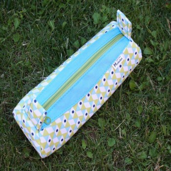School Pencil Box Blue-green