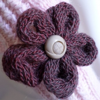 Brosche Braun Flower
