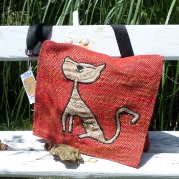 Bag With Cat Red VENDU!!!
