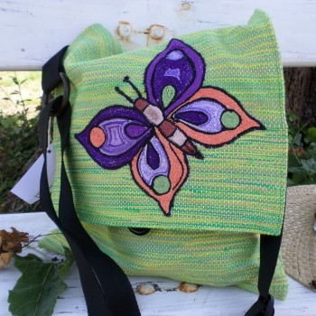 Bag With Butterfly Green VENDU!!!