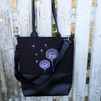 Bag With Dandelions Embroidereds VENDU!!!