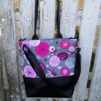 Bag With Pink Flowers VENDU!!!