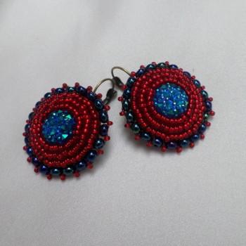 Earring Blue-Red VENDU!!!