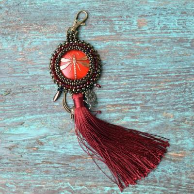 Pompon For Bag Red