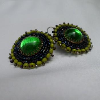 Earring With Green Stone VENDU!!!