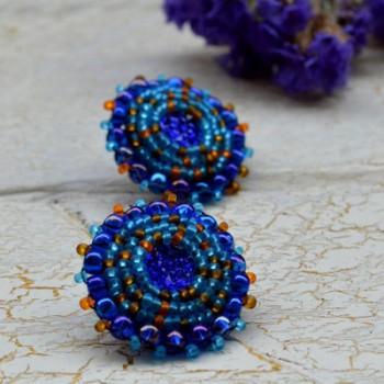Earring Blues Oranges